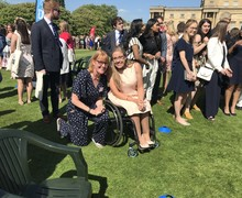 Kerry Shaw and Hannah at Buckingham Palace