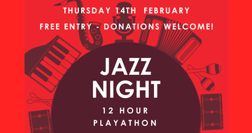 Join us for Jazz  - 5.30pm on 14 February