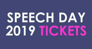 Speech Day Tickets 17th December - now available to book online