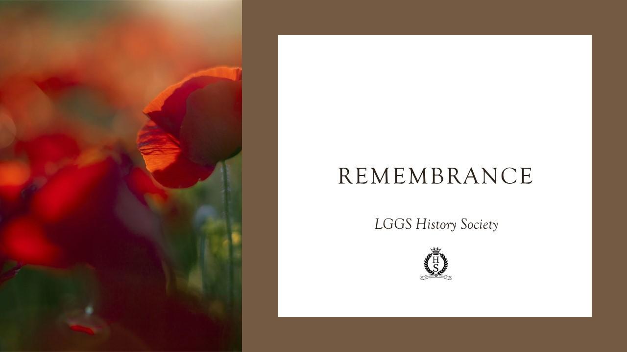Remembrance Day Presentation 2020